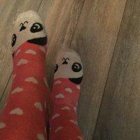Cute pink panda 🐼 socks!