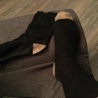 Black and beige socks!
