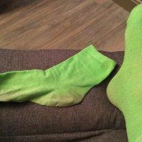 Smelly green socks!