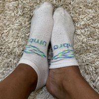 college girl's white workout soc…