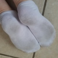 Thin white ankle socks