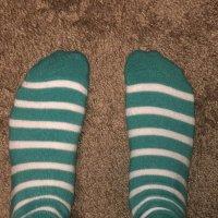 Sweaty striped socks