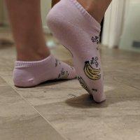WORN banana socks