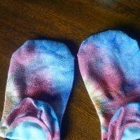 WORN tie-die socks
