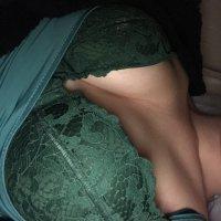 Green pushup bra