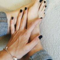 Fotos pies uñas negras