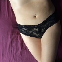 Black lace pleasure panties