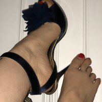 Scarpe usate, tacco a spillo