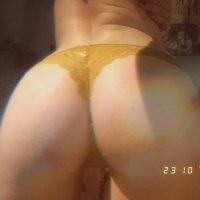 Yellow lace pants